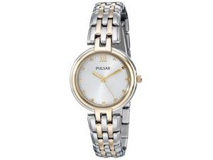 Pulsar PH8128 Women's Business Silver Dial Two Tone Steel Watch