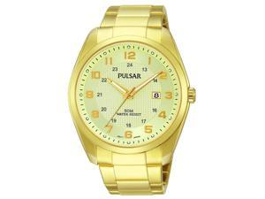 Pulsar PH9072 Men's Business Champagne Dial Yellow Gold Steel Bracelet Watch