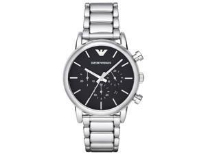 Armani AR1853 Men's Classic Chronograph Black Dial Steel Bracelet Watch