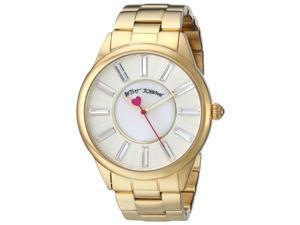 Betsey Johnson BJ00433-02 Women's Yellow Gold Steel Bracelet White MOP Dial Crys