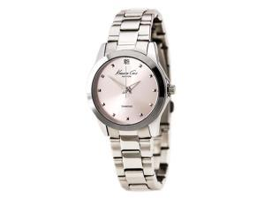 Kenneth Cole KC4994 Women's Rock Out Hot Pink Dial Steel Bracelet Diamond Watch