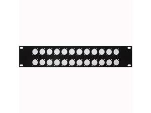 "Seismic Audio - SARLBL24 -2U Rack Panel - Pre-Punched 24 ""D Size"" Holes - 2U Units 2 Space"