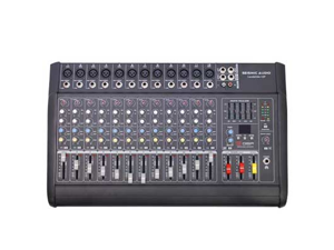 Seismic Audio - LandSlide-12P - 12 Channel DSP Professional Powered Mixer