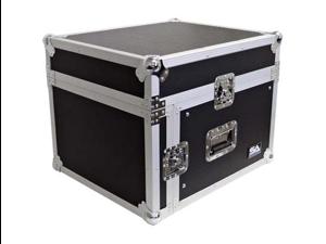 Seismic Audio - SAMRC-6U - 6 Space Rack Case with Slant Mixer Top - PA/DJ Pro Audio Road Case