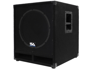 "Seismic Audio - Baby-Tremor_PW - Powered 15"" Pro Audio Subwoofer Cabinet - 300 Watts RMS - PA/DJ Stage, Studio, Live Sound Active 15 Inch Subwoofer"