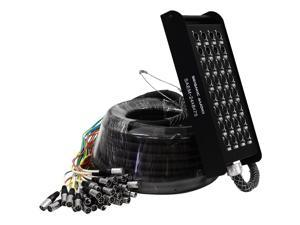 Seismic Audio - Snake Cable 24 Channel XLR Sends with  8 Channel XLR Returns - 75 Feet