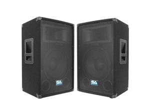 "Seismic Audio - Two 12"" Pro Audio PA / DJ Speaker Cabinets With Titanium Horns"