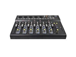 Seismic Audio - Slider7 - 7 Channel Mixer Console with USB Interface