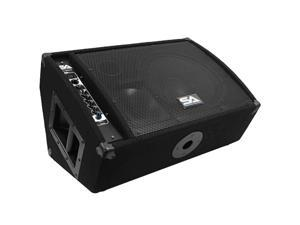 """Seismic Audio - FL-12MP-PW - Premium Powered 2-Way 12"""" Floor / Stage Monitor Wedge Style with Titanium Horn - 300 Watts RMS - PA/DJ Stage, Studio, Live Sound Active 12 Inch Monitor"""