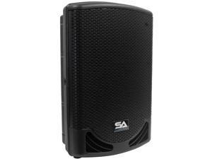 "Seismic Audio - MainShock-12 - Powered 2-Way 12"" PA / DJ Molded Speaker Cabinet with Titanium Horn - Active 500 Watt Loudspeaker Cabinet"