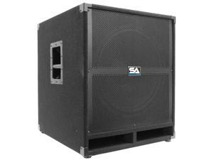 Seismic Audio - 18 inch Powered PA Subwoofer Cabinet Active DJ 500 Watts RMS