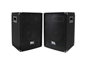 "Seismic Audio - Two 10 Inch PA/DJ Speaker Cabinets or 10"" Floor Monitors"