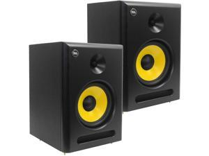 "Seismic Audio - Spectra-8P-Pair - Pair of Active 2-Way 8"" Studio Reference Monitors - 95 Watts RMS - Studio Monitors Home Studio Monitors Multimedia Monitors"