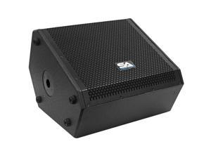 Seismic Audio - SAX-12M-PW - Powered Compact 12 Inch 2 Way Coaxial Floor / Stage Monitor with Titanium Horn - 250 Watts RMS - PA/DJ Stage, Studio, Live Sound Active 12 Inch Monitor