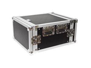Seismic Audio - 6 Space Rack Flight Case - Fits Standard 19 inch Gear- Pro Audio