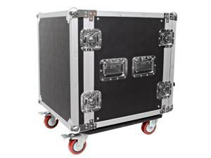 Seismic Audio - 12 Space Rack Flight Case with Casters - Fits Standard 19 inch