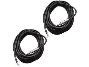 "Seismic Audio - QRW35 (Two Pack) - 35' Raw Wire to 1/4"" PA/DJ SPEAKER CABLE"