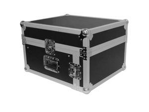Seismic Audio - SAMRC-4U - 4 Space Rack Case with Slant Mixer Top - PA/DJ Pro Audio Road Case