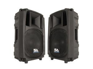 "Seismic Audio - S_Wave-10-Pair - Pair of Passive 10 Inch 2-Way PA/DJ Speaker Cabinets  - 10"" Full Range PA/DJ Band Live Sound Speakers"