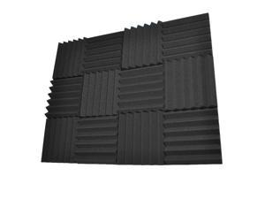 Seismic Audio - SA-FMDM2-Charcoal-12Pack - 12 Pack of 2 Inch Charcoal Studio Acoustic Foam Sheets - Noise Cancelling Foam Wedge Tiles