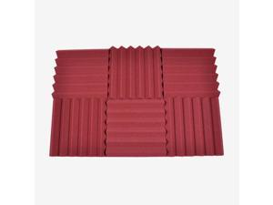Seismic Audio - SA-FMDM2-Burgundy-6Pack - 6 Pack of 2 Inch Burgundy Studio Acoustic Foam Sheets - Noise Cancelling Foam Wedge Tiles