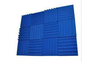 Seismic Audio - SA-FMDM2-Blue-12Pack - 12 Pack of 2 Inch Blue Studio Acoustic Foam Sheets - Noise Cancelling Foam Wedge Tiles