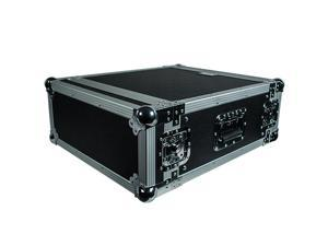 Seismic Audio - 4 Space Rack Flight Case - Fits Standard 19 inch Gear