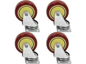 Seismic Audio - Pack of 4 Non-Locking 4 inch Swivel Caster - Holds up to 500 lbs