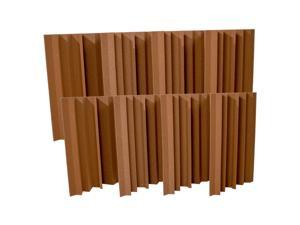 Seismic Audio - SA-FMBST-Brown-8Pack - 8 Pack of Brown Acoustic Foam Corner Bass Traps - Soundproof Noise Cancelling Foam - Sound Absorption