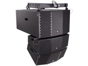 Seismic Audio - CLA-PKG2 - Compact 3x10 Line Array Subwoofer, Pair of Compact 2x5 Line Array Speakers, & Mounting Frame