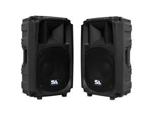 "Seismic Audio - S_Wave-12-Pair - Pair of Passive 12 Inch 2-Way PA/DJ Speaker Cabinets  - 12"" Full Range PA/DJ Band Live Sound ..."