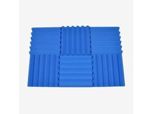 Seismic Audio - SA-FMDM2-Blue-6Pack - 6 Pack of 2 Inch Blue Studio Acoustic Foam Sheets - Noise Cancelling Foam Wedge Tiles