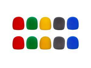 Seismic Audio - SAPT19-2Pack - 10 Pack of Colored Foam Microphone Windscreens - Microphone Covers Wind Screens