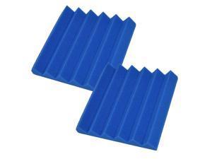 Seismic Audio - SA-FMDM2-Blue-2Pack - 2 Pack of 2 Inch Blue Studio Acoustic Foam Sheets - Noise Cancelling Foam Wedge Tiles