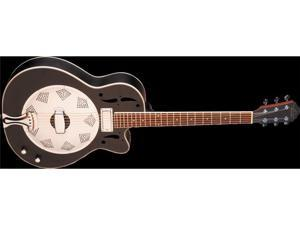Oscar Schmidt Electric Biscuit Resonator Black