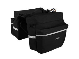 Ibera BV Bicycle Panniers, 3M Reflective Trim, Large Pockets, Adjustable Hooks, Carrying Handle