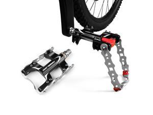 BV Bicycle Pedal Kickstand 2-In-1, Alloy Pedals, Mountain Bike Pedals, Road Bicycle Pedals