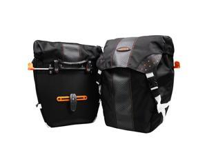 Ibera Bicycle PakRak Clip-On Quick-Release All Weather Panniers (Pair), Includes Rain Cover