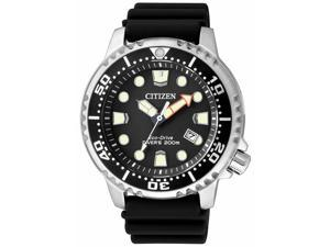 Citizen Promaster Diver BN0150-28E Black/Black Polyurethane Analog Eco-Drive E168 Men's Watch
