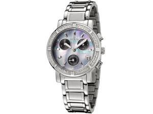 Invicta 0610 Women's Wildflower Diamonds Chronograph Ss Mop Dial Stainless Steel Watch