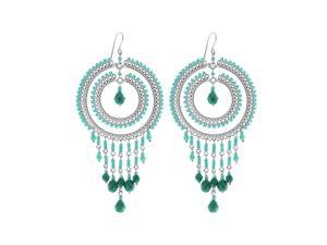 Brazilian Chandelier Fashion Earrings Made with Multicolor Czech Seed Beads French Wire Hook