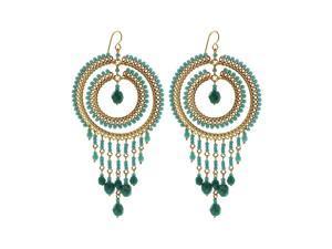 Brazilian Chandelier Fashion Earrings Made with Multi Czech Seed Beads French Wire Hook