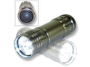 Neiko Super-Bright 9 LED Heavy-Duty Compact Aluminum Flashlight - Gunmetal Silver Color