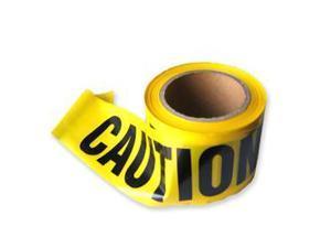 Neiko Barricade 'Caution' Tape 3-Inch x 300-Ft, Yellow