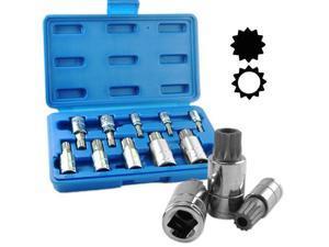 Capri Tools XZN Triple Square Spline Bit Socket Set, Metric, 10-Piece