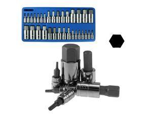 Capri Tools Master Hex Bit Socket Set, Metric/SAE 32-Piece