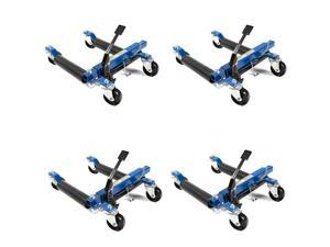 Capri Tools 21085 Hydraulic Car Positioning 12 Tire Jack/Dolly, 4-Pack + Stand