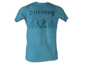 Flash Gordon Duel Turquoise T-Shirt