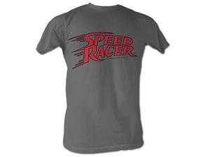 Speed Racer Logo Charcoal T-Shirt