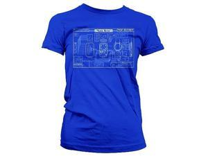 Warehouse 13 Farnsworth Blueprint Juniors Shirt